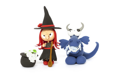Witch and dragon