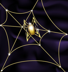 jewel spider and web