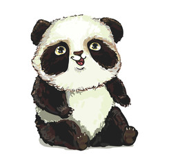 panda cute vector illustration