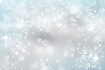 Soft blue snowfall with sparkle