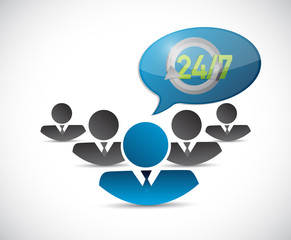 avatar 24 7 message bubble illustration