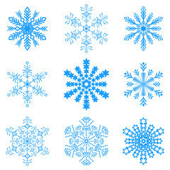 Snowflakes icon collection .