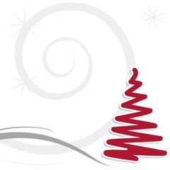 Decorazione albero di Natale stilizzato rosso e grigio