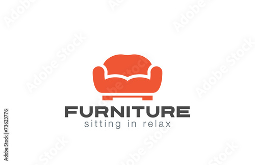 Furniture Logo Sofa Design Vector Couch Silhouette