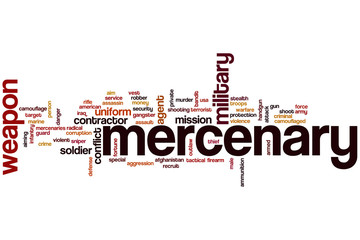 Mercenary word cloud