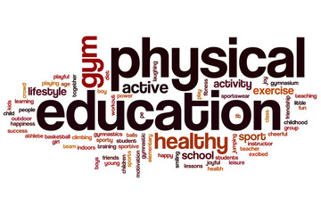 Physical education word cloud Wall mural