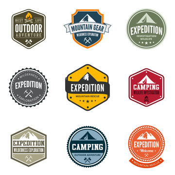 Adventure Tourism Travel Logo Vintage Labels design