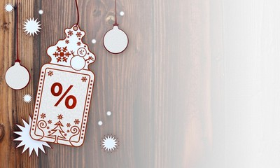 xmas coupon with percent label