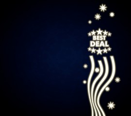 a best deal background with stars