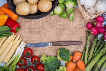 farm fresh market vegetables background