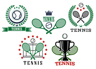 Assorted tennis tournament symbols