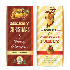 Christmas banner vertical