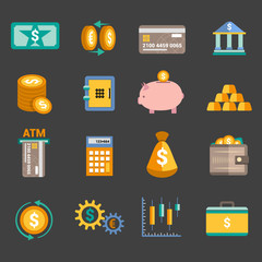 Money finance icons