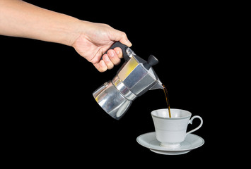 fill the coffee