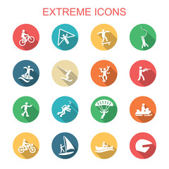 extreme long shadow icons