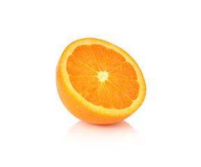orange fruit slice on white background