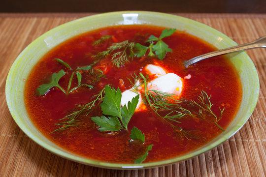 Plate of borscht