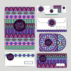Ethnic ornament. Document template design