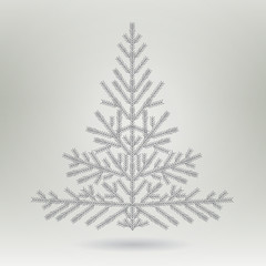 stylized Christmas tree. Simple christmas tree made in vector