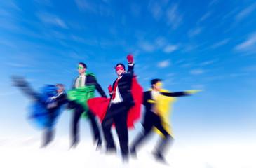 Strong Superhero Business Aspirations Confidence Concept