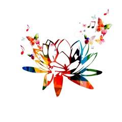 Colorful lotus flower design