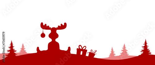 silhouette weihnachten elche stockfotos und lizenzfreie. Black Bedroom Furniture Sets. Home Design Ideas