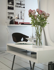 Small office area in a modern apartment