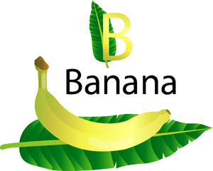 illustrator b font with banana