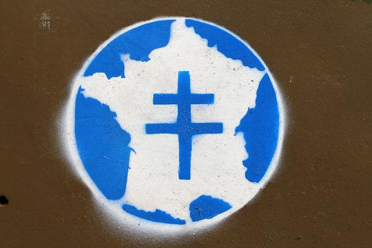 Croix de Lorraine sur un véhicule de la seconde guerre mondiale
