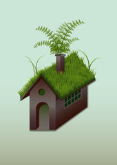 eco grass house