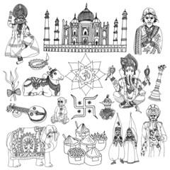 India sketch set