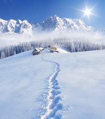 Wall Mural - Winter in the mountains