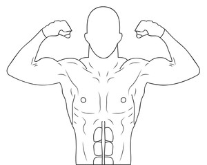 Drawing athlete