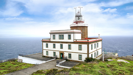 Fototapete - Lighthouse of Finisterre, Galicia, Spain.