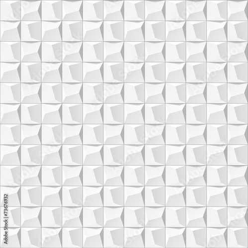 Abstract White Geometric Background Seamless Texture 3d Panel