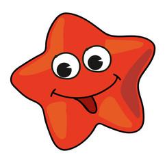 Cartoon starfish