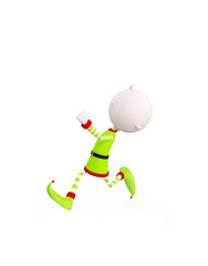 3d Elves for Christmas with running pose