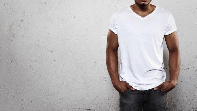 Man in white t-shirt
