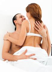 Sitting couple  having sex