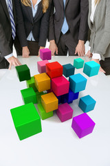 Multicolored cubic abstract meeting