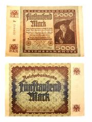 Inflationsgeld Reichsbanknote vom 02.12.1922 Fünftausend Mark