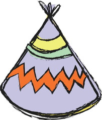 doodle tee pee tent