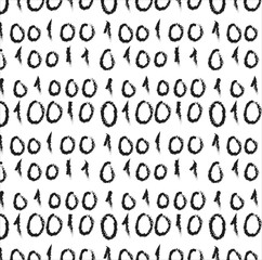 doodle binary code screen listing table , pattern and background