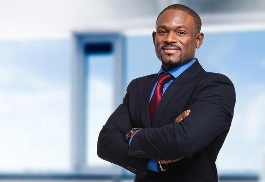 Confident african businessman