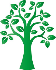 green tree milieu environ logotype