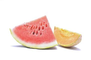 Watermelon and cantaloupe melon