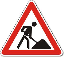 Verkehrszeichen, Baustelle