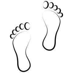 black footprint