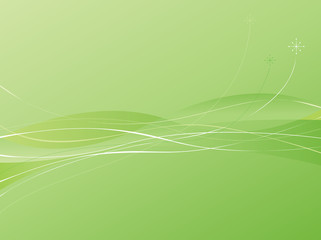 Green Swooshie Background