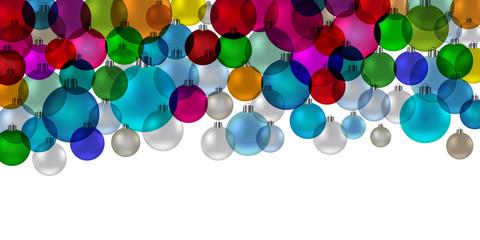 Banner christmas balls